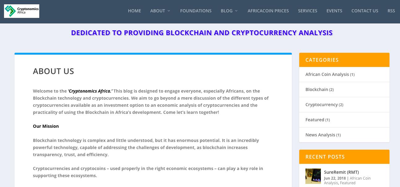 Cryptonomics Africa Blog