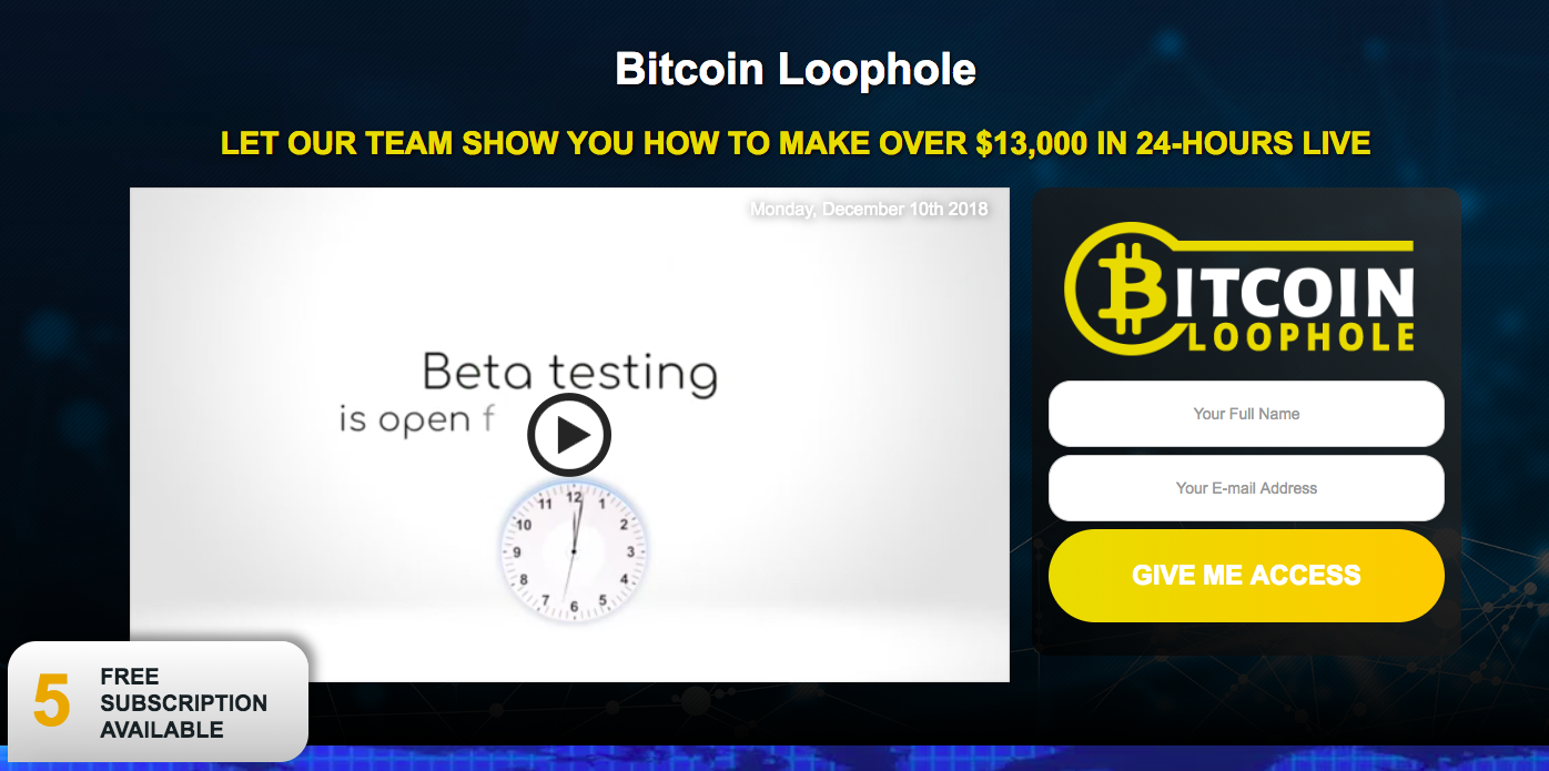 Bitcoin Loophole - Yet Another Crypto Scam to Avoid!