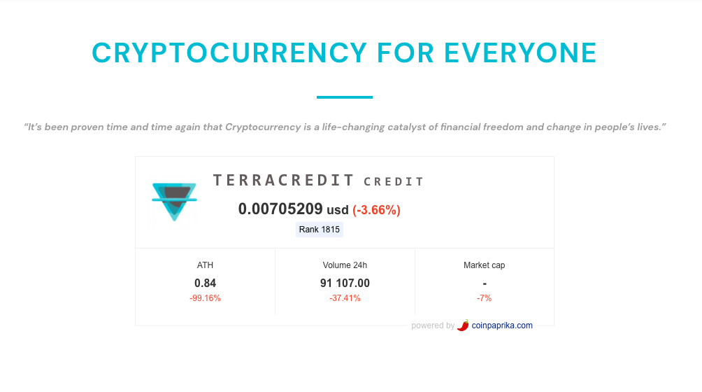 TerraCredit Coinpayments