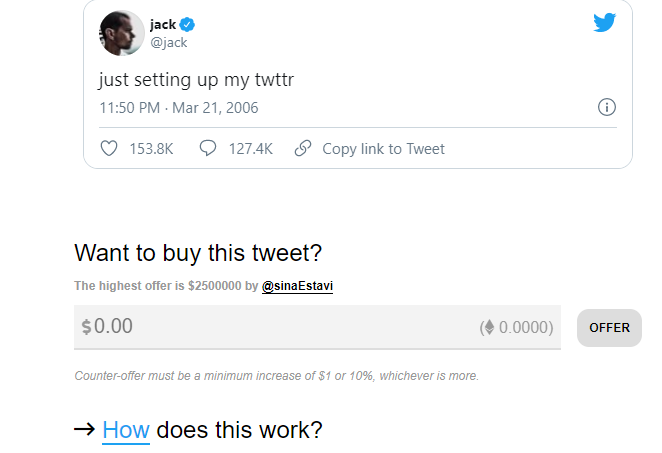 Jack NFT Tweet